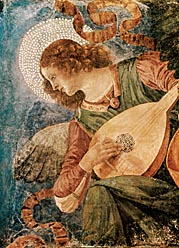 Angel With Lute by Melozzo da Forli